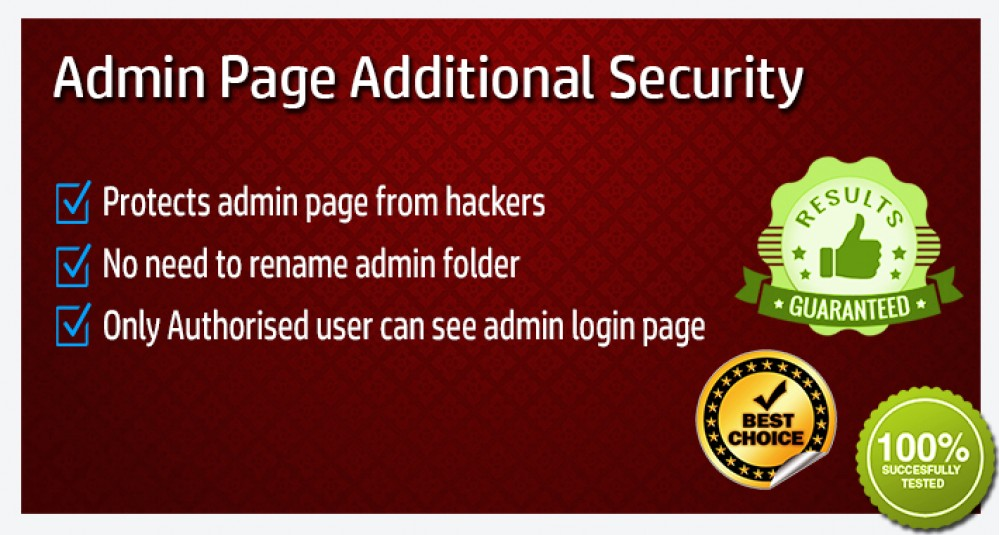 Admin Additional Security image