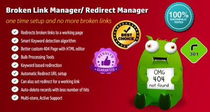 Broken Link Manager / Automatic Redirect Manager pour OpenCart