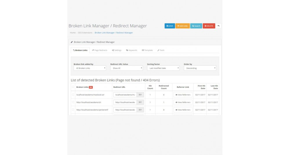 Broken Link Manager /Auto Redirect Manager image