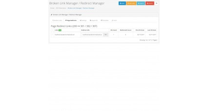 Broken Link Manager /Auto Redirect Manager image for opencart