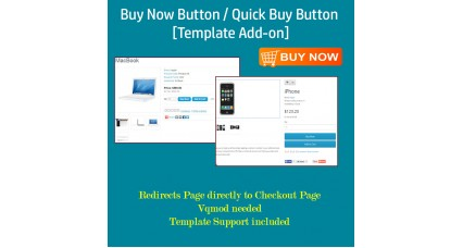 Buy Now Button / Quick Buy Button - [Template Add-on]