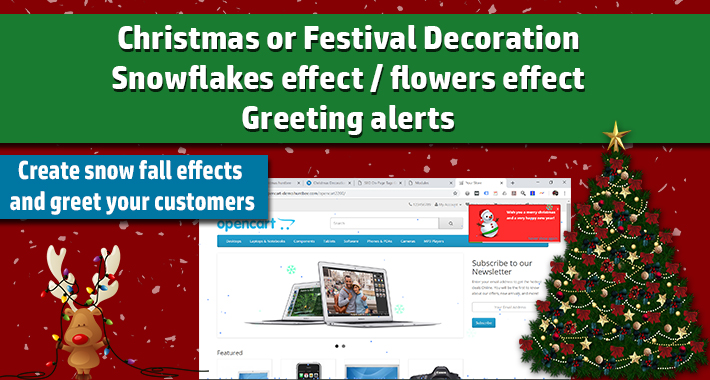 Christmas Decoration Module / Snowflakes effect image