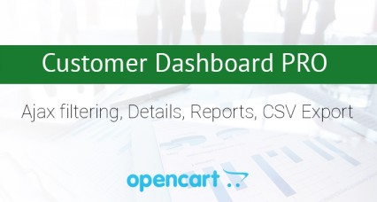 Image showing extension Customer Dashboard PRO for opencart