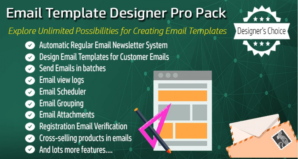 Email Template Designer PRO Pack + Newsletter Scheduler image