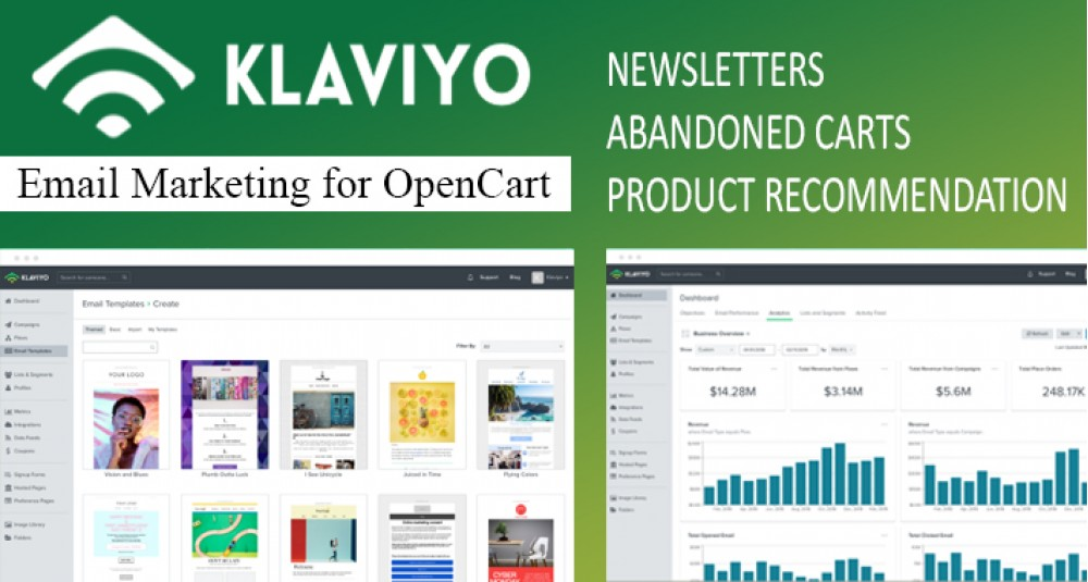 Image showing extension Klaviyo Integration for Opencart - Email Marketing for opencart