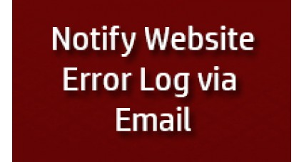 Notify Error log on Email image