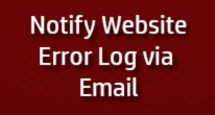 Notify Error log on Email image for opencart