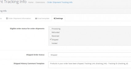 Order Shipment / Courier Tracking Info image
