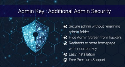 OpenCart Admin Key : Additional Security for OpenCart Admin Login Page