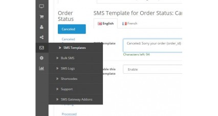 Image showing extension OpenCart SMS for opencart