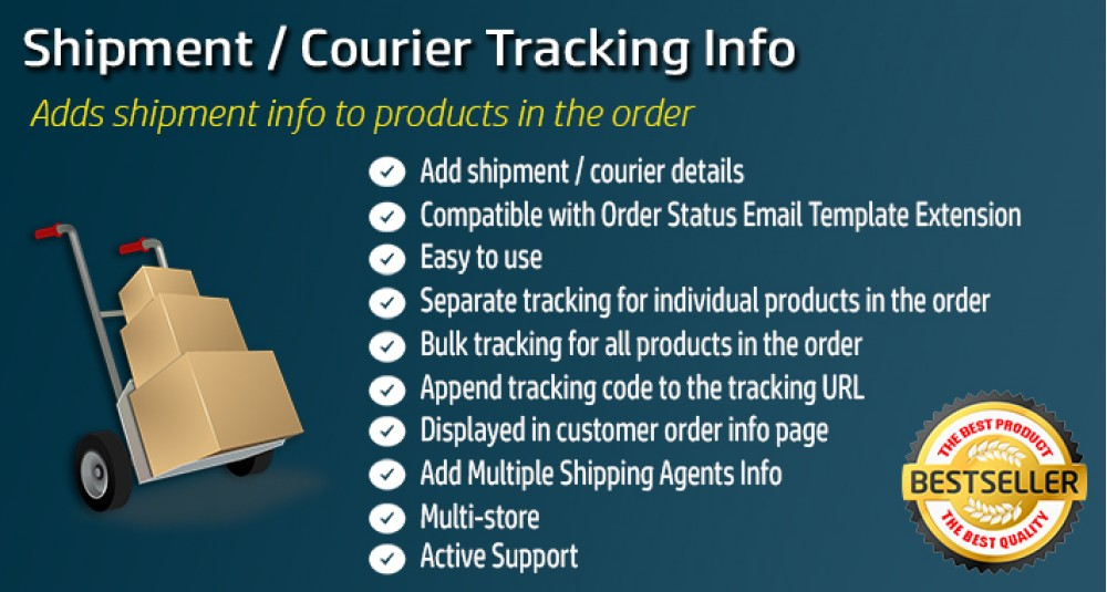 Order Shipment / Courier Tracking Info for OpenCart 15xx image