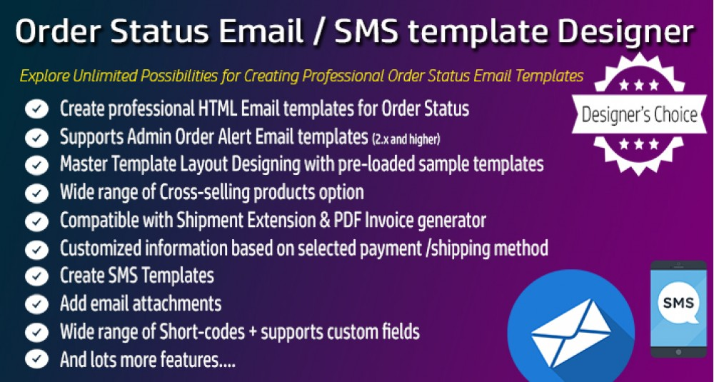 Estado del pedido Diseñador de plantillas de correo electrónico / SMS Professional image