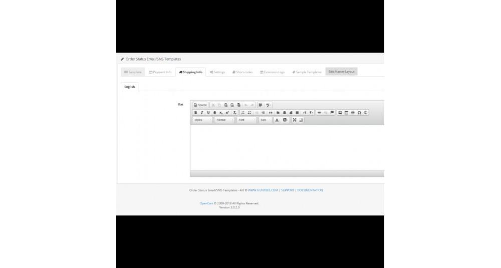 Statut de la commande Email / SMS Template Designer Professional Extensions et modules, Extensions OpenCart, Extensions Premium, Augmentation de la productivité, Extensions de messagerie image