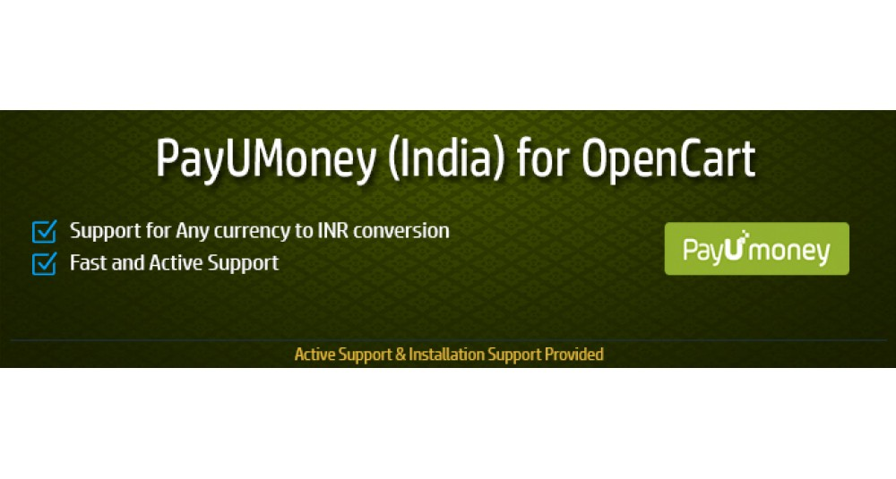 PayUMoney India for OpenCart image