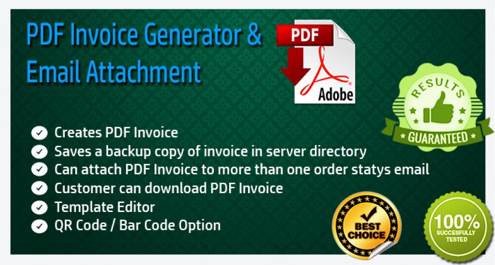 PDF Invoice Generator and Email Attachment image for opencart