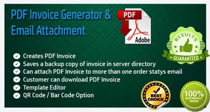 PDF Invoice Generator and Email Attachment image