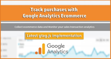 Transaction de vente avec le commerce électronique Google Analytics