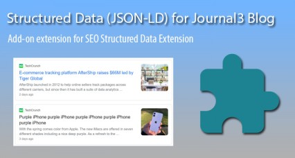 Structured Data for Journal3 Blog Article
