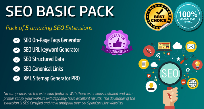 Image showing extension SEO Basic Pack for opencart