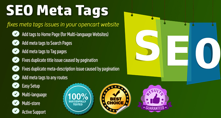 SEO Meta Tags / Fix duplicate title & meta description image for opencart