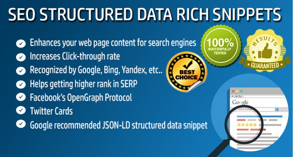 Données structurées SEO - Rich Snippets Extensions et modules, Extensions OpenCart, Applications de référencement image