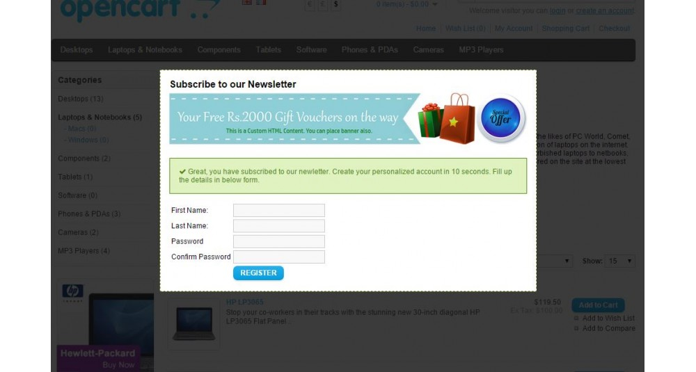 Special Auto Popup [HTML Content, Image, Newsletter, Easy Signup Form] image
