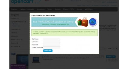 Special Auto Popup [HTML Content, Image, Newsletter, Easy Signup Form] Extensions et modules, Modules OpenCart image
