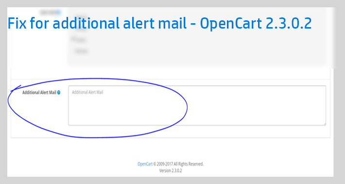 Image showing extension Fix for additional emails in OpenCart 2.3.0.2 for opencart