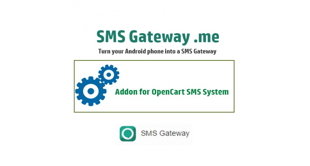 Image showing extension SMS Gateway .me for OpenCart SMS System for opencart