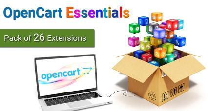 Extensiones de OpenCart Essential (paquete de 26 extensiones)