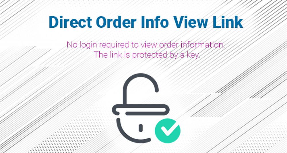 Link de acesso à página de pedido direto Extensões Premium, Aumentar a produtividade, OpenCart 2.x.x.x Store, OpenCart 3.x.x.x Store, OpenCart image