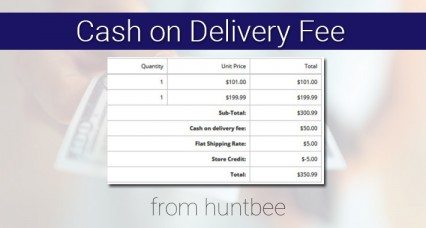 Cash on Delivery or Payment on Delivery FEE for OpenCart