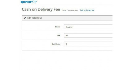 Cash on Delivery or Payment on Delivery FEE for OpenCart image for opencart