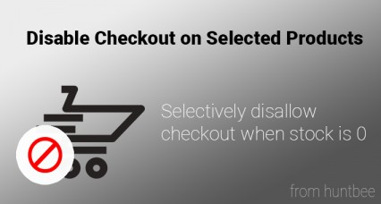 Image showing extension Disable checkout on Selected Products for OpenCart for opencart