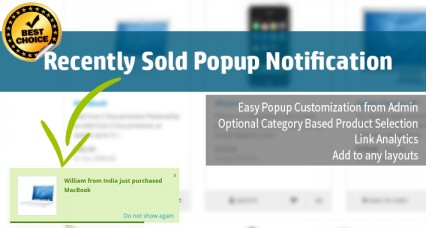Recently Purchased Popup Alert [23xx- 3xxx]