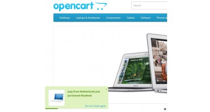Image showing extension Just Purchased - Popup Alert for opencart