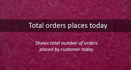 Total orders placed today for OpenCart