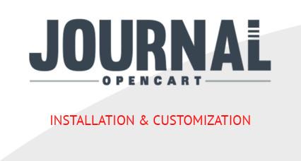 Journal3 OpenCart Template - Installation Setup
