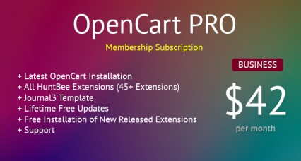 OpenCart PRO - Business Membership - All OpenCart Extensions for Lifetime & Support