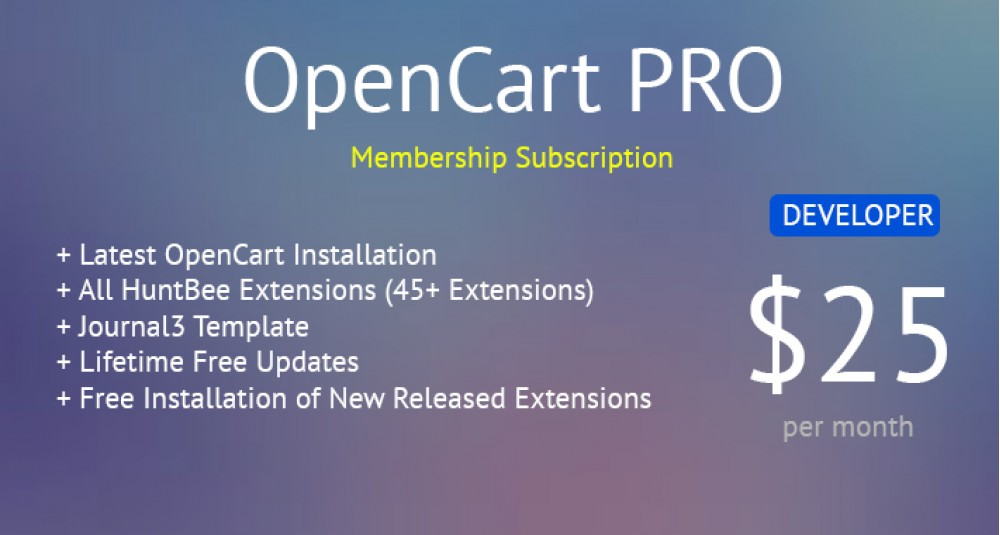 Image showing extension OpenCart PRO - Developer Membership - All OpenCart Extensions for Lifetime for opencart