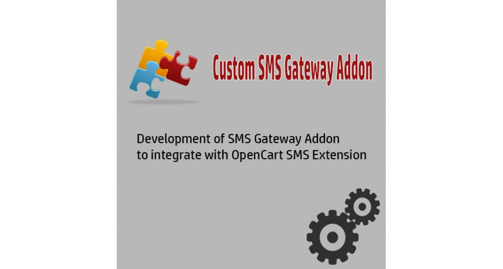 SMS API Integration image for opencart