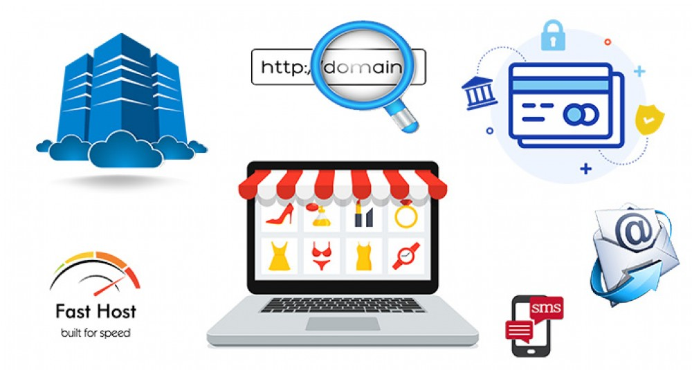 Shopping Cart Ecommerce Website [Complete setup with best hosting] image for opencart